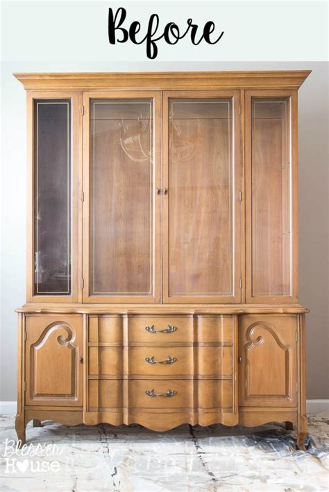 Dining Room Hutch And Buffet by French Provincial China Cabinet Makeover