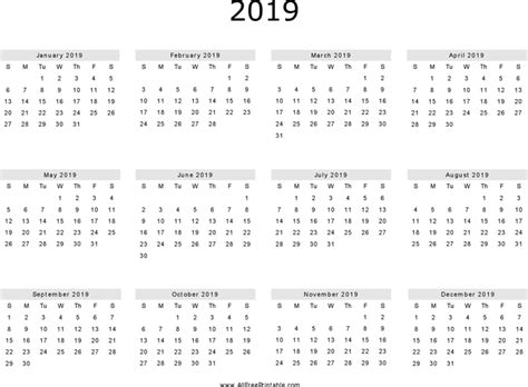 the 2019 yearly calendar 1 can help you make a