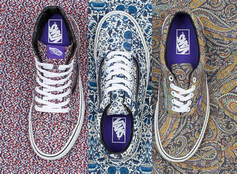 Sepatu Vans Bape liberty of x vans fall 2014 collection sneakernews