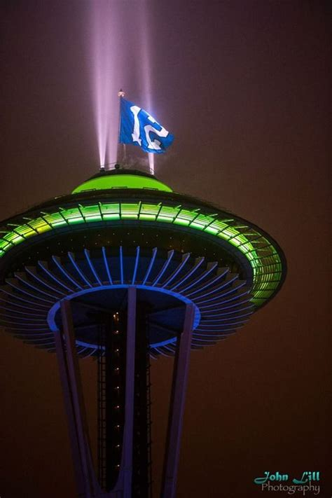 seattle seahawk colors space needle in seattle seahawk colors bowl