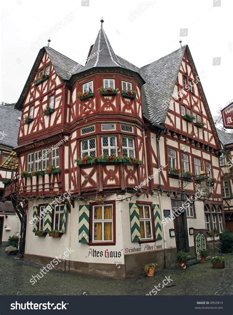 germany house music traditional 14th century german house bacharach stock photo 8953819 shutterstock