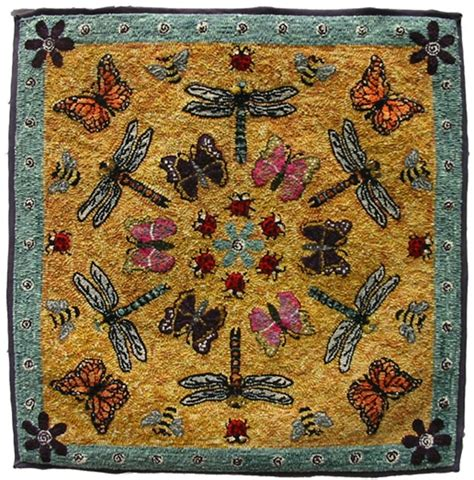 Rug Bugs Quot Bug Rug Quot Hand Hooked By Natalie Rowe Rug Hooking