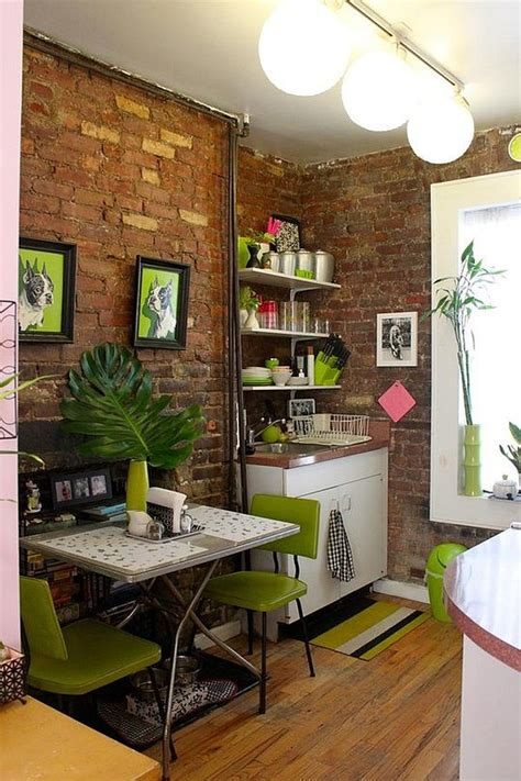 tiny apartment kitchen small apartment design with exposed bricks walls kitchen