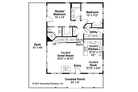 cottage home floor plans cottage house plans arden 30 329 associated designs