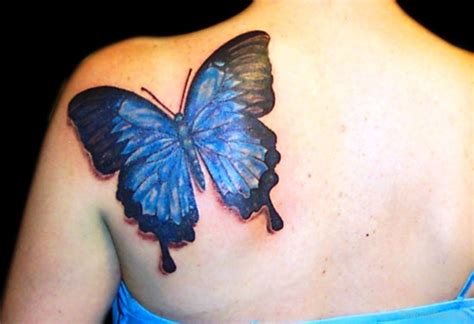 blue butterfly tattoo back tattoos designs pictures page 49