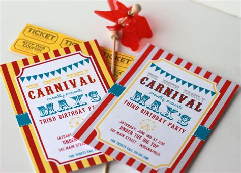 diy carnival birthday diy carnival wedding invitations pictures images frompo
