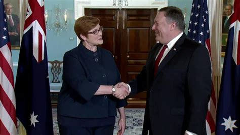 marise payne secretary pompeo meets with australian foreign minister
