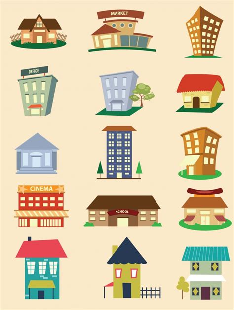 design elements building buildings design elements vector free download