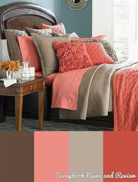 coral bedroom color schemes 22 beautiful bedroom color schemes coral accents coral