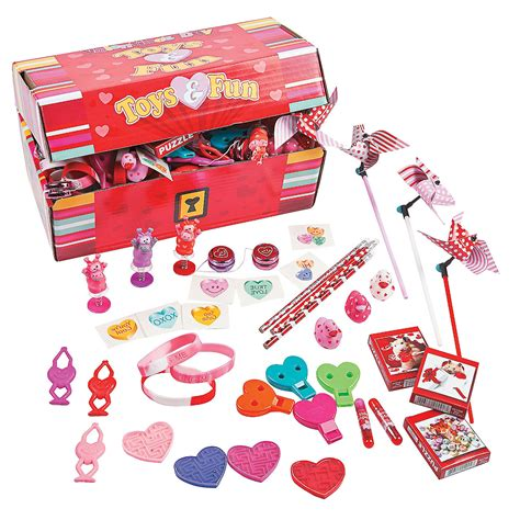 valentines toys treasure chest assortment trading