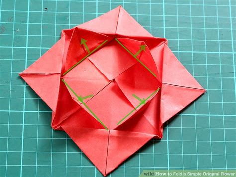 How To Fold A Flower Out Of Paper - how to fold a simple origami flower 12 steps with pictures