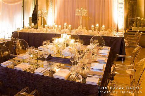mirror reception table tops the wedding