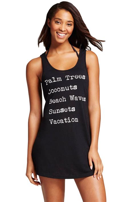 design beach cover ups sale uk beach cover up graphic design sleeveless tank top black uk