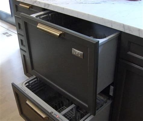 Dishwashers Drawers by Drawer Style Dishwasher With Counter Fronts That Could
