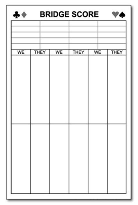 bridge tally template 18 bridge tally template bridge score pad free