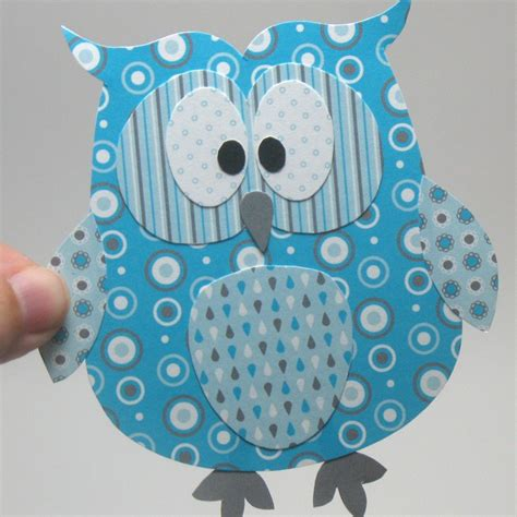printable paper owl diy layered owl embellishment paper piecing craft