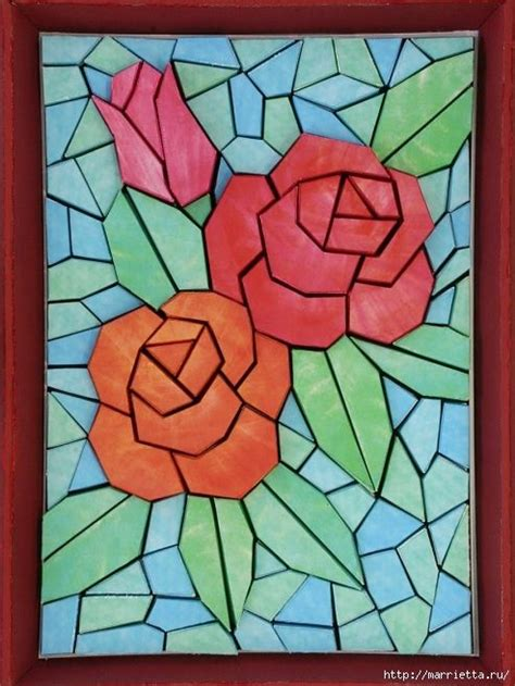 mosaic rose pattern image gallery mosaic rose