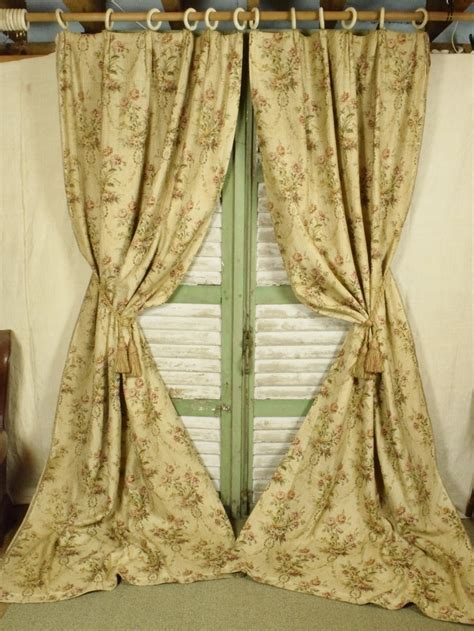 chateau curtains b571 s exquisite pair antique french tapestry chateau