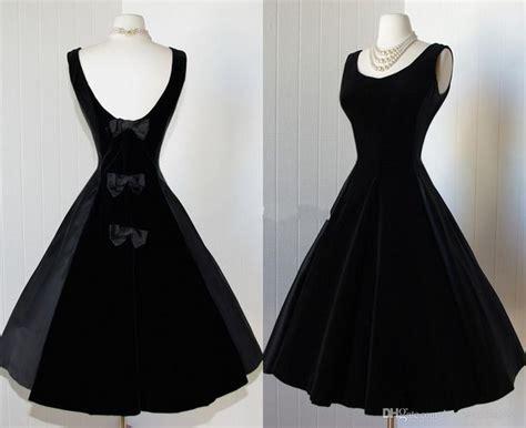 1950 s designer black formal cheap delicate black satin prom dresses 2014 scoop tea