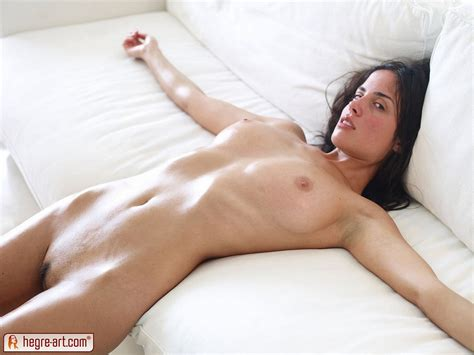 Muriel And Her Hot Boobs On A White Couch Boobgoddess
