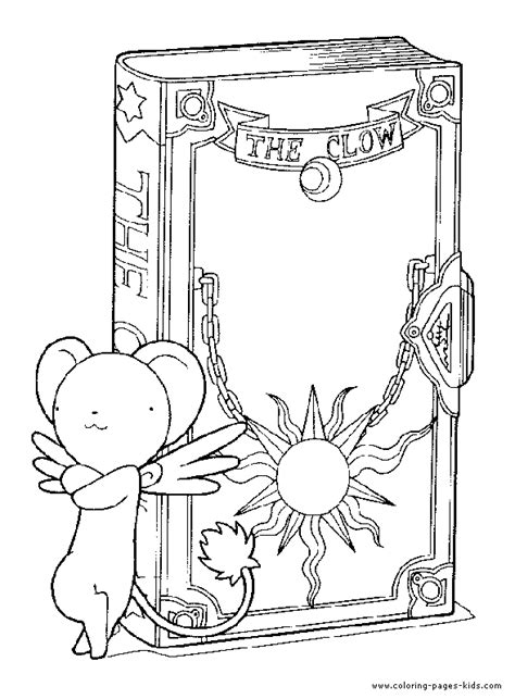 Cardcaptor Coloring Pages by Cardcaptor Color Page Characters Coloring