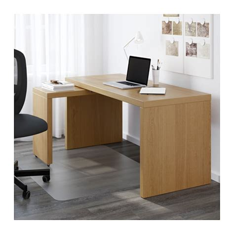 Malm Desk With Pull Out Panel Oak Veneer 151x65 Cm Ikea Pull Out Desk