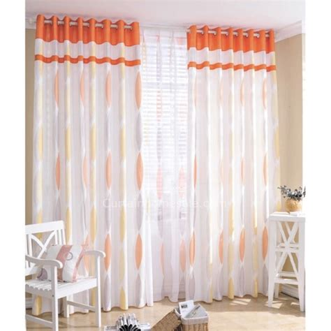 Geometric Pattern Drapes Sheer Curtain Ideas For Living Room Ultimate Home Ideas