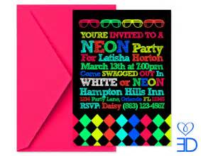 neon invitations templates neon invitations template best template collection