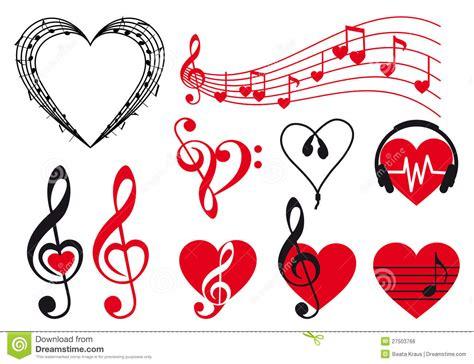 imagenes de corazones musicales corazones de la m 250 sica vector ilustraci 243 n del vector