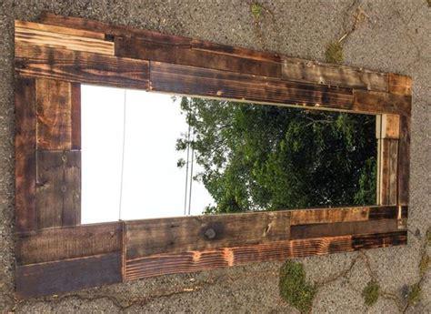 Wood Pallet Wall Mirror   Wooden Pallet Furniture