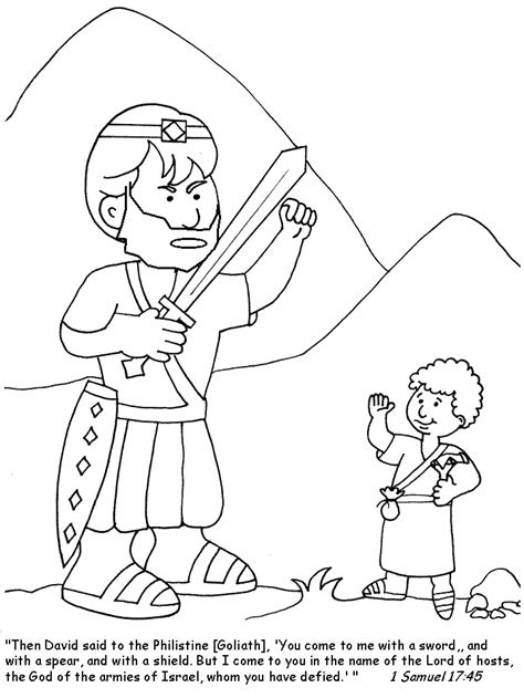 david and goliath coloring pages for toddlers a boy a and a slingshot by rosemarie haas