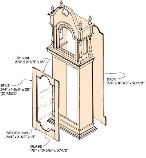 grandfather clock woodworking plans 23 best images about grandfather clock on