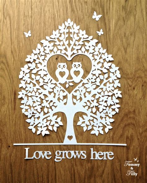 paper cutting templates owl tree design papercutting template by
