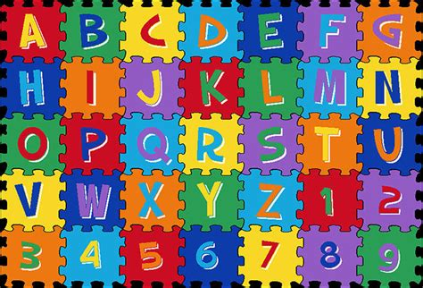 abc rug 3x5 educational rug abc letters numbers puzzle