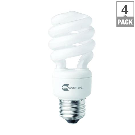 cfl lights home depot ecosmart 60w equivalent white spiral cfl light bulb