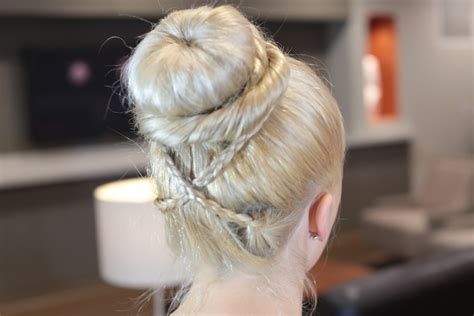 Sock Bun Hairstyles by Cross Braid Sock Bun Hairstyles
