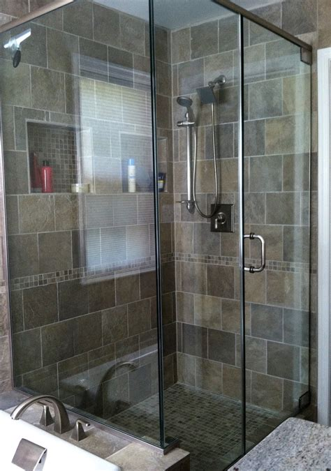 Walk In Shower Doors Glass Walk In Shower With Glass Door Panels Our Bathrooms Pinterest