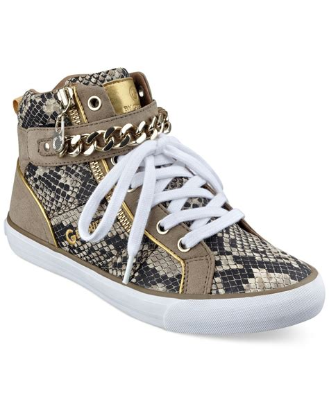 guess high top sneakers g by guess s orvan high top chain sneakers in
