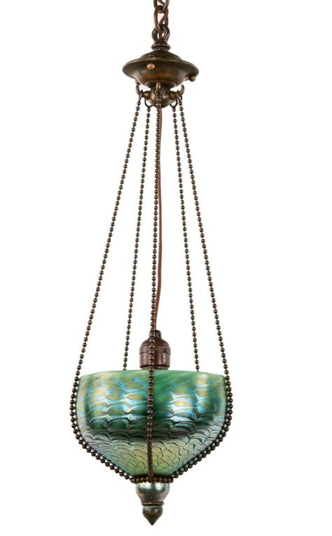candelabros tiffany art nouveau damascene tiffany pendant adore vintage
