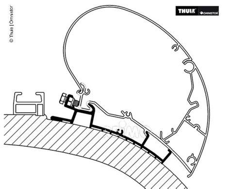 gardinen t5 nachrusten thule markisen befestigung f 252 r carthago chic l 5 50m