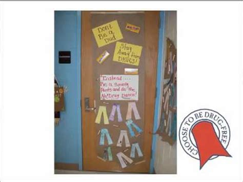 ribbon week say no to drugs door contest