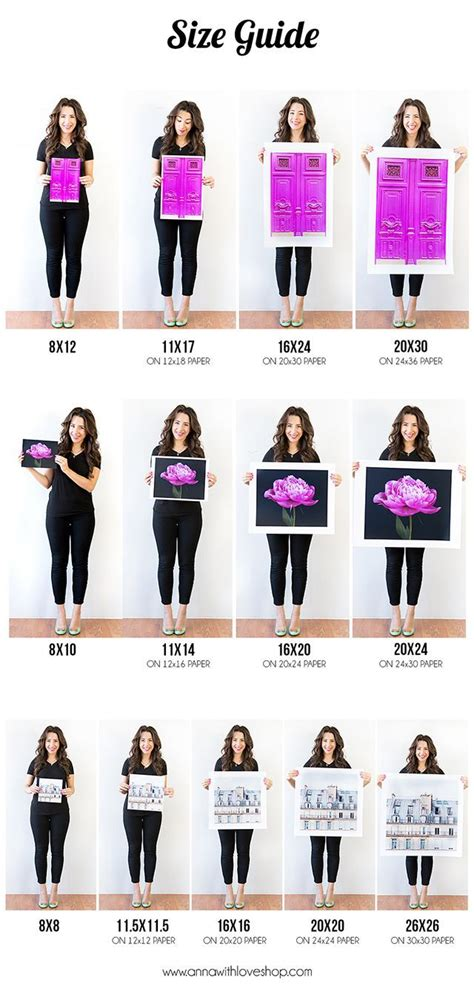 printable poster size handy size guide to printing your photos via annawithlove