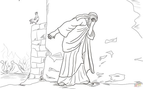 peter denies jesus three times coloring page free