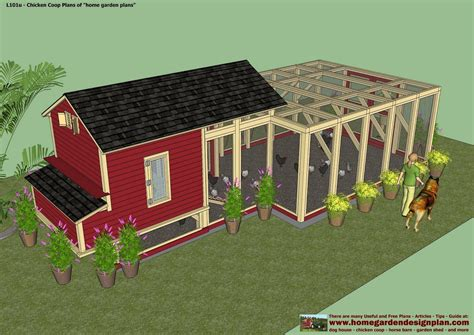 home garden plans l101 chicken coop plans construction
