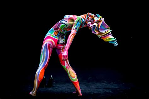 world bodypainting festival partially bodies transformed into masterpieces