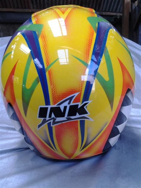 Lu Vario Techno haris studio airbrush grafis helm ink