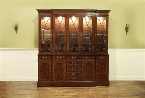 large traditional high  mahogany china cabinet