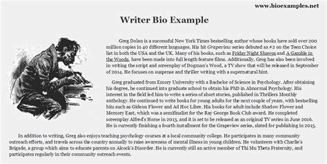 executive biography exle biography exles for writers writer bio exle bio exles