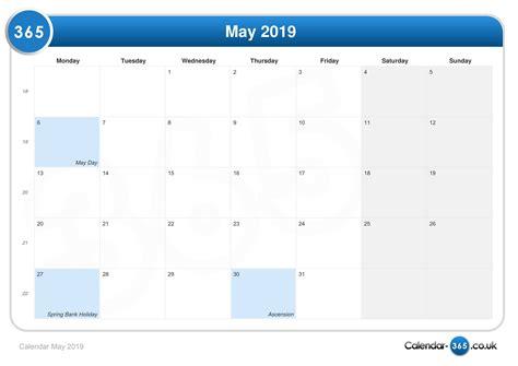 Calendar 2019 May Calendar May 2019