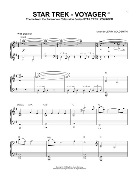theme music now voyager download star trek voyager r sheet music by tv theme